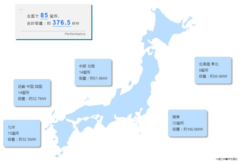 アール・エス・アセットマネジメントの電力マップ