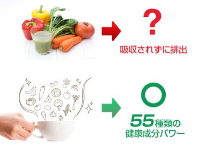 命の野菜スープの栄養吸収