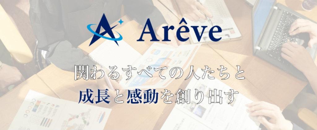 株式会社AreveのHPトップ画像