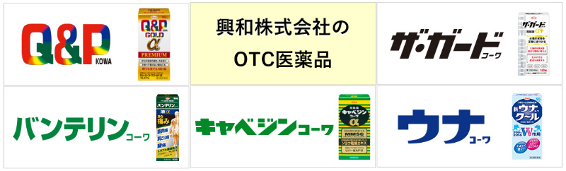 興和のOTC医薬品